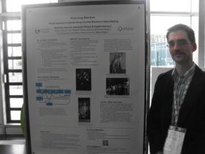 Matthias Heyman with poster